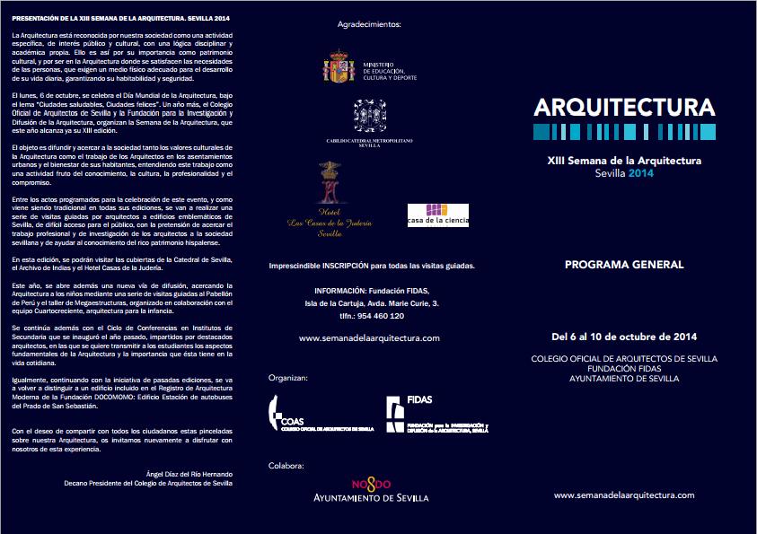 Programa XIII Semana de la Arquitectura